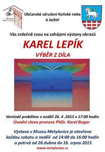 Karel Lepík - výstava Metylovice